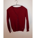 Aston Martin V Neck Cashmere Cardigan Burgundy Size: 10 years
