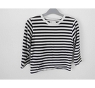 Agnes B Striped Top Black White Size: 8 - 9 Years