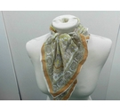 Paisley Brown Cotton Scarf
