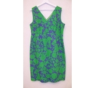 Boden Sleeveless dress Green Mix Size: 18