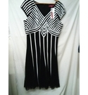 Jacques Vert EVENING DRESS BLACK & WHITE Size: 16