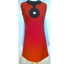 The Carnaby Streak 60s Style Mini Dress Red Size: 12