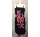 Warehouse Halter Neck Dress Black & Pink Size: 10