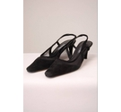Vaneli Vintage Suede Sling Backs Black Size: 6