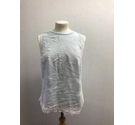 River Island Sleevless Top Light Blue Size: 10