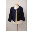 Phase Eight Smart Crop Jacket Navy Size: 16