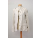 Fat Face Casual Jacket Coat Cream Size: 12