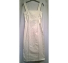 Our Second Nature Fitted Dress White Size: 6