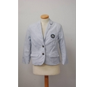 Abercrombie & Fitch Stripe Cotton Blazer Jacket Blue White Size: XS
