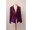 Monsoon Cardigan Jacket Shrug Silk Purple Size: 12
