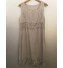 Unbranded Linen shift dress Beige Size: M