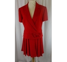 Options 2 Piece Short Sleeve Suit Red Size: 14