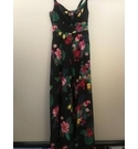 Monsoon Tropical patterned sundress Black Size: 8