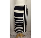 M&S Marks & Spencer Stripey Pencil Skirt Black & White Size: 10