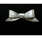 Vintage silver bow brooche