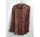 Oui Leopard Print long sleeved top Brown & Pink Size: 12