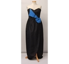 Youngs Vinatge 1980's Bow Dress Black Size: 14