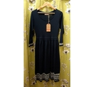 Brakeburn Fitted Fairisle Dress New Navy/Blue Size: 14
