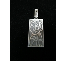 Silver 925 art deco st christopher pendant