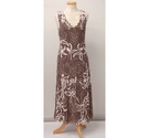 Phase Eight Flower Embroidery Dress Brown Size: 12