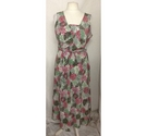 BM Summer Dress Green/Pink Mix Size: 18