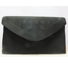1940s Corde England Envelope Clutch Bag Black Size: L