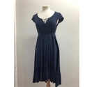 Monsoon Dress Navy Blue Size: 8