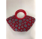 peru Hand Crafted bag Red and Grey Size: S