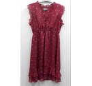 Apricot dress burgundy Size: 10