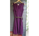 Laura Ashley Embroidered Weekend Dress Purple Size: 12
