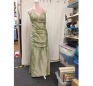 tailored Evening Dress Green Size: S