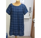 White Stuff Linen Shirt Pocket Dress Navy & White Size: 14