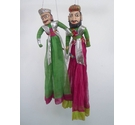Pair of Rajasthani puppet dolls