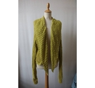 Sandwich Lace knit cardigan Lime green Size: 14