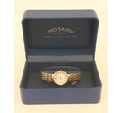 Rotary Elite gold plated ladies wristwatch