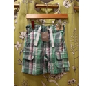 Next Brand New Shorts Green Check Size: 9-12 months