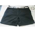 Cambridge Dry Goods Black shorts with belt Black Size: S