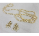 Imitation Pearl Necklace and Clip on Earrings