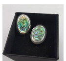 Sterling Silver and Abalone Earrings for Pierced Ears
