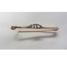 9ct Gold and Diamond Bar Brooch