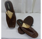 Balignac Gentleman's Leather Slippers Brown Size: 8