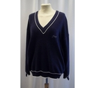 Busnel V-neck sweater Navy Blue Size: M