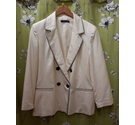 Windsmoor Buttoned Jacket and Trousers Cream Size: L