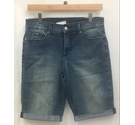 NYDJ Lift Tuck Denim Long Roll Cuff Shorts Small Blue Size: 30""