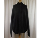 M&S Collection Zip Up Cardigan Black Size: XXL