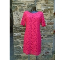 Poem by Oliver Bonas Lace Dress Pink Size: 12