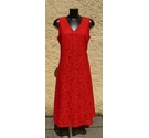 Per Una Floral Lace Dress Red Size: 14