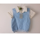 BNWT John Lewis Linen Shirt and Tank Top Blue Size: 3-6 months