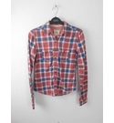 Hollister Long Sleeved Checked Shirt Red Size: XS