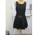 Alice You Sequin Flare Dress Black Size: 10